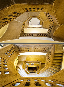 Staircase in a historic building in Bamberg, Germany