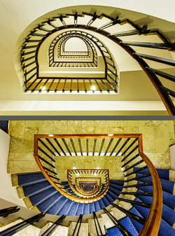 Staircase in the Best Western Premier Hotel Dante in Barcelona, Spain