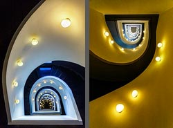 Staircase in the Hotel Ohla Barcelona in Barcelona, Spain
