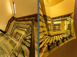 Staircase in the Hotel H10 Urquinaona Plaza in Barcelona, Spain