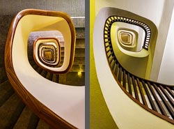 Staircase in the Park Hotel in Barcelona, Spain