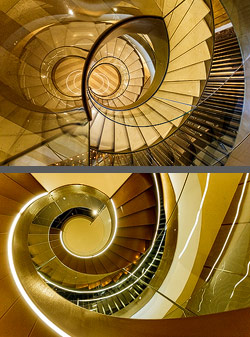 Staircase in the Hotel Almanac Barcelona in Barcelona, Spain
