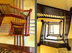 Staircase in the Marriott Royal hotel in Bristol, England