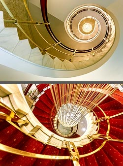 Staircase in the InterContinental hotel in Bukarest, Romania