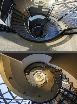 Staircase in an educational building in Dresden, Germany