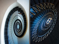 Staircase in der Neuen Maxburg in Munich, Germany