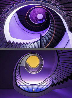 Staircase in the Deutsches Museum in Munich, Germany