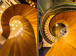 Staircase in the CitizenM Hotel in Rotterdam, Netherlands