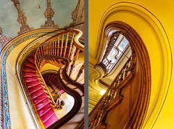Staircase in the Villa Patumbah in Zurich, Switzerland