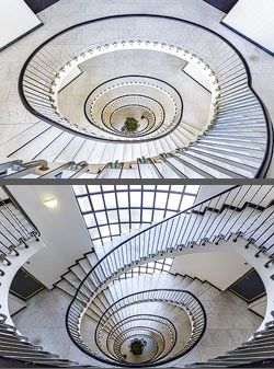 Staircase in an office building in Zurich, Switzerland