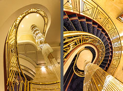 Staircase in the Hotel Savoy Baur en Ville in Zurich, Switzerland