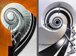 Staircase in a residential building in Zurich, Switzerland