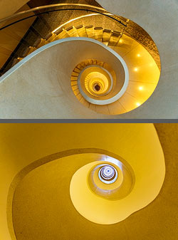 Staircase in the Hotel Atlantis in Zurich, Switzerland